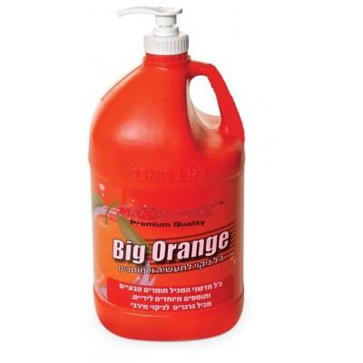 גיל תפוז עם גרגירים לניקויי הידיים